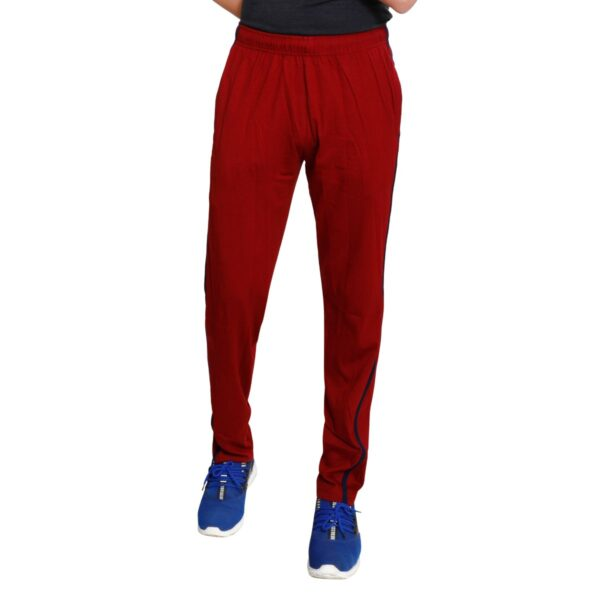TT Men Cotton Trackpants Maroon