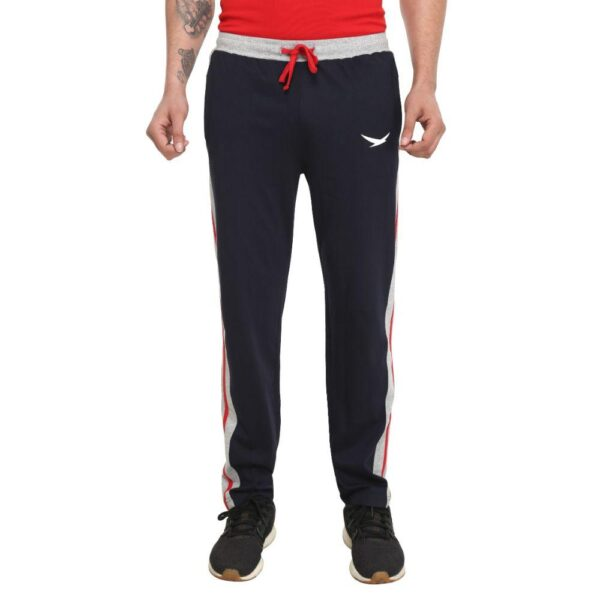 HiFlyers Men Cotton Trackpants Navy Blue