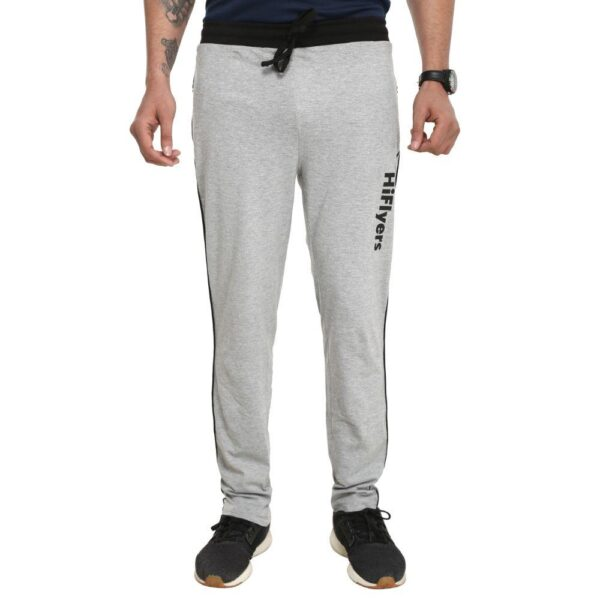 HiFlyers Men Cotton Trackpants Grey