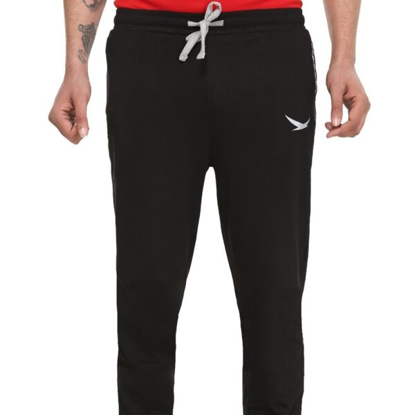 HiFlyers Men Cotton Trackpants Black