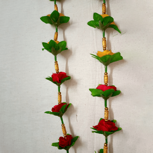 Door Hanging Red Yellow Flower