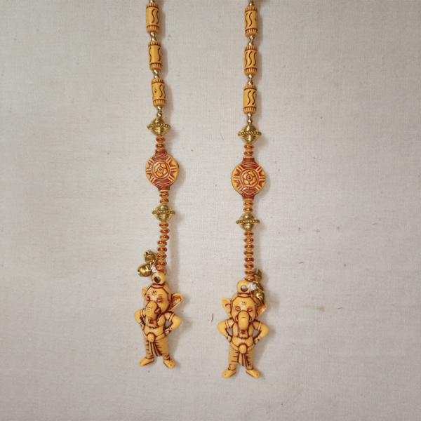 Door Hanging Wooden Yellow Ganesha